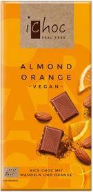 iChoc Organic Almond Orange Rice Chocolate 80g x10