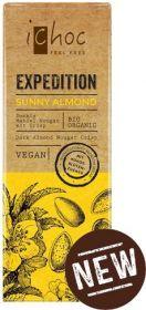 iChoc Organic Sunny Almond (Almond Nougat Crisp) Dark Chocolate 50g x15