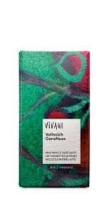 Vivani Organic Milk with Whole Hazelnuts Chocolate 100g x10