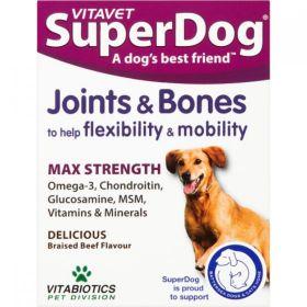 Vitavet Superdog Joints & Bones Tablets 30s x4
