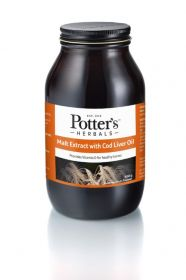 Potter's Herbals Malt Extract and Cod Liver Oil with Butterscotch 650g x6