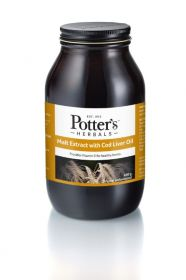 Potter's Herbals Malt Extract & Cod Liver Oil Original 650g x6