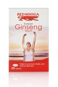 Red Kooga Ginseng Tablets (600mg) 32's x6
