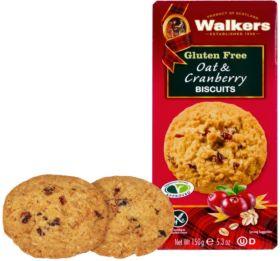 Walker's Gluten Free Oat Cranberry Biscuits 150g x6