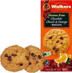 Walker's Gluten Free Choc Chunk Orange Biscuits 150g x6