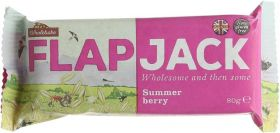 Wholebake Summer Berry Flapjack 80g x20
