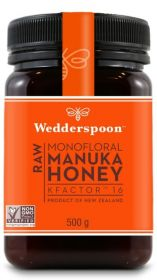 Wedderspoon KFactor 16 Raw Manuka Honey 500g x6