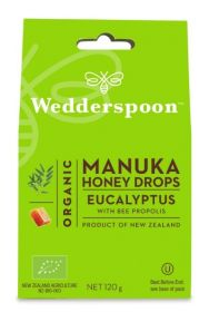 Wedderspoon Eucalyptus Natural Manuka Honey Drops (20 drops Per Box) 120g x12