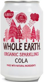 Whole Earth Organic Lightly Sparkling Cola Drink 330ml x24
