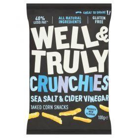 Well&Truly Crunchy Sea Salt & Cider Vinegar 100g x10