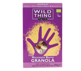 Wild Thing Organic Mountain Berry Paleo Granola 350g x6