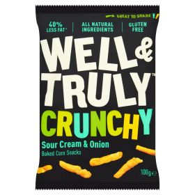 Well&Truly Crunchy Sour Cream & Onion 30g x16