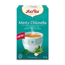 Yogi Tea Minty Chlorella Organic 17 bags  x6