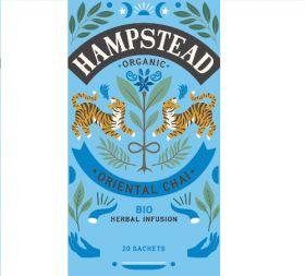 Hampstead Organic Oriental Herbal Chai Tea (individually wrapped) 40g x4
